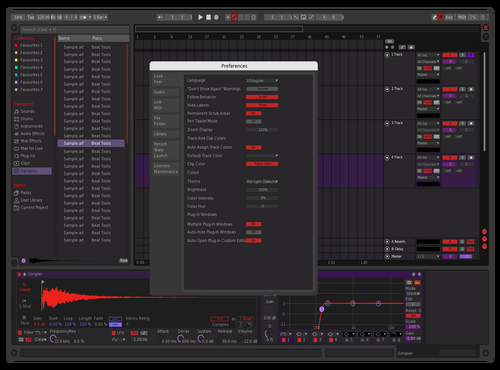 Redpurp3 Theme for Ableton 10 by Yyuno