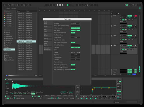 Soothing Blue Theme for Ableton 10 by Neuren