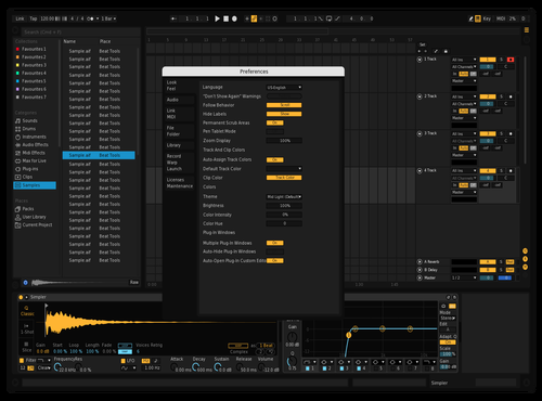 Darkest Theme for Ableton 10 by Salvador Vega