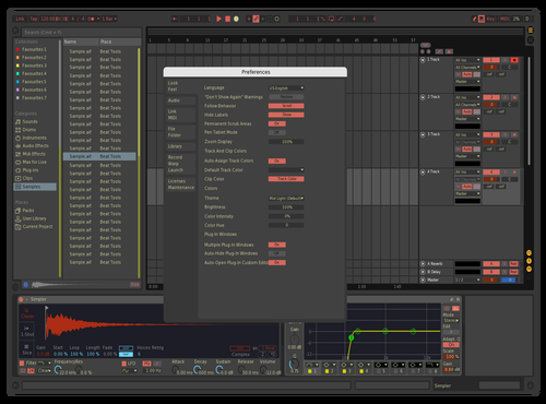 Dark Custom Theme for Ableton 10 by Keith Meldrum