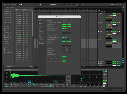 Dark remastered Theme for Ableton 10 by yellow