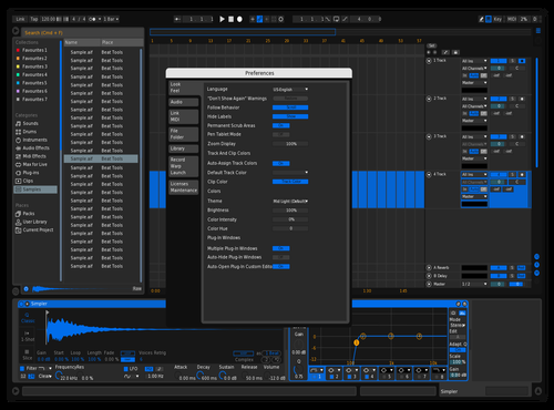 Blue 1 Theme for Ableton 10 by Nate