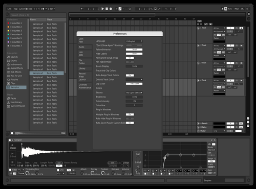 Dark White Theme for Ableton 10 by izbassar