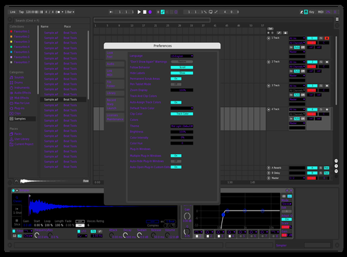 Kozmic background Theme for Ableton 10 by Khanspire