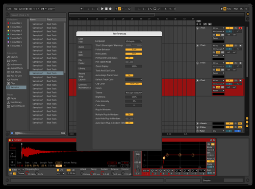 Red Theme for Ableton 10 by saar