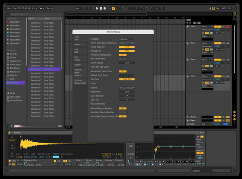 Dark but with some colour Theme for Ableton 10 by johnny