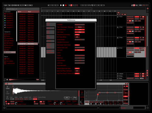 Red Theme for Ableton 10 by Jake Piludu