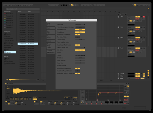 FLAT ORANGE Theme for Ableton 10 by c