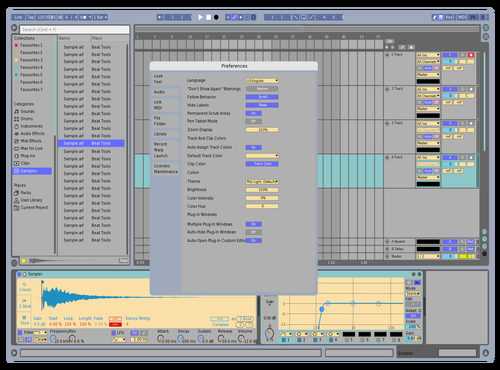 Retro Blue Theme for Ableton 10 by Danyo
