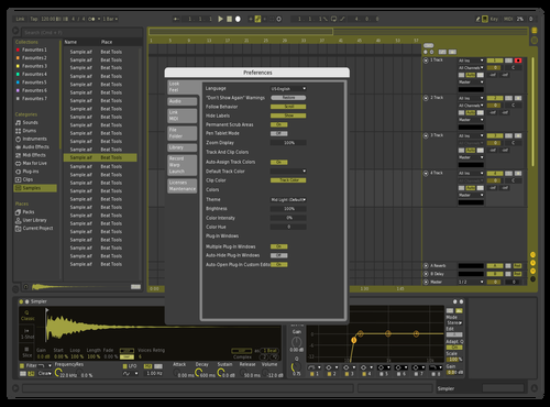 Dark Gold Theme for Ableton 10 by Ableton Art Biennale