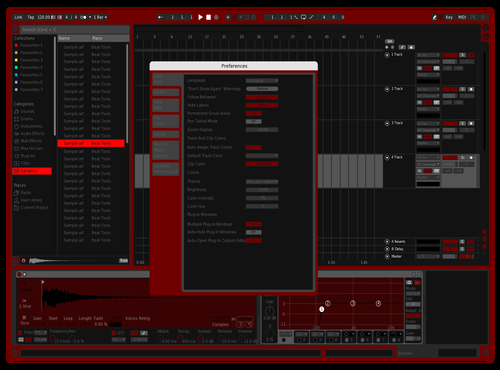 Another red one thats kinda cool Theme for Ableton 10 by C0PLE