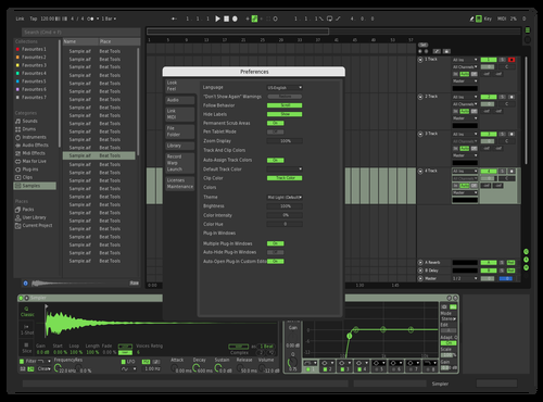 Dark NatureGreen Theme for Ableton 10 by Danyo