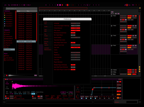 Purple Red Theme for Ableton 10 by Scott