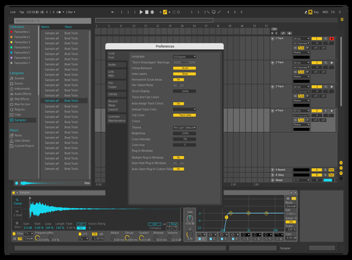 Ableton Inspire DarkGrey 2 Theme for Ableton 10 by DRstelth