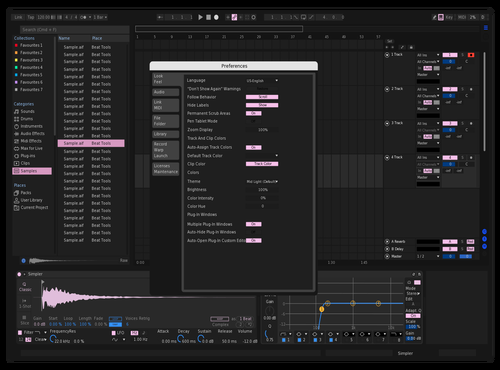 Dark pink Theme for Ableton 10 by madd