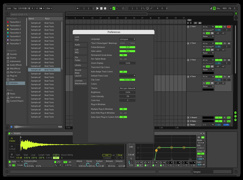 DarkGreen Theme for Ableton 10 by Reconnnnn