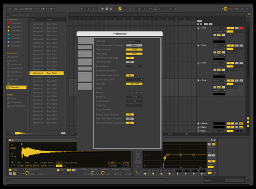 Yellow Theme for Ableton 10 by planetlucid