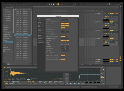 Muted Theme for Ableton 10 by loloniu