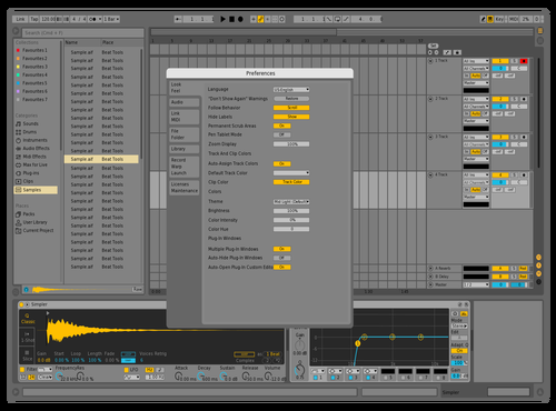 BlueYellowDJREtO3 Theme for Ableton 10 by juanca