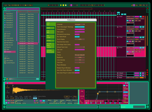 Cyberdelic Theme for Ableton 10 by Jared Maly