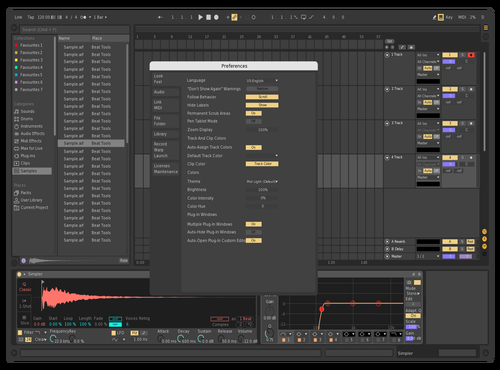 Oo2daRK Theme for Ableton 10 by harris