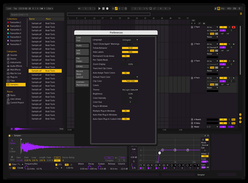 Dark Lakers Theme for Ableton 10 by zuks one