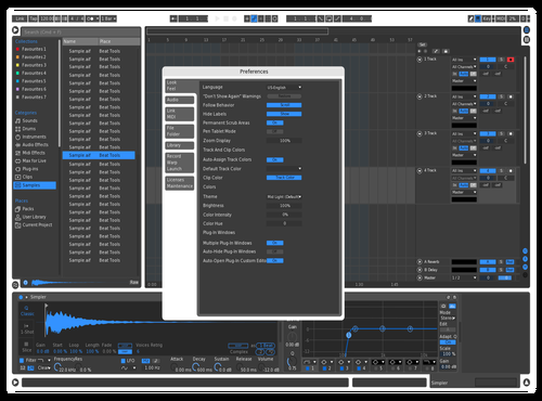 BlueBold Theme for Ableton 10 by Michael Santoni
