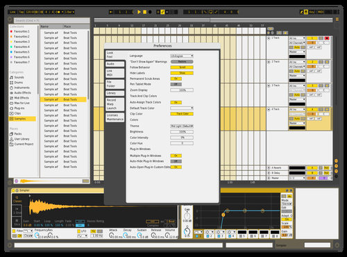 Light Orange Theme for Ableton 10 by Dave