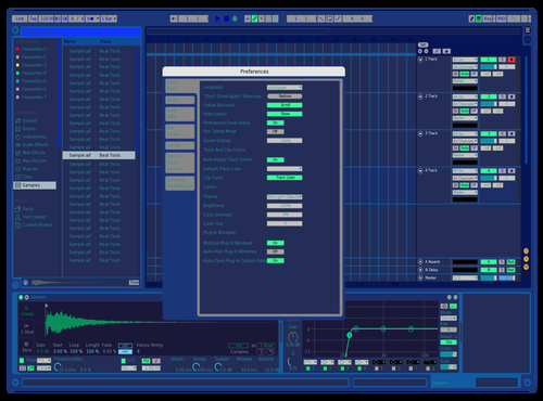 All Blue Theme for Ableton 10 by Nicolas Martinez