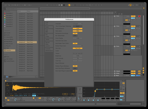 Mid Dark (Darker Text) Theme for Ableton 10 by Raffi