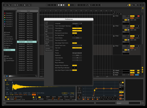 Live 9 Dark Mode 01 Theme for Ableton 10 by Resonant Language