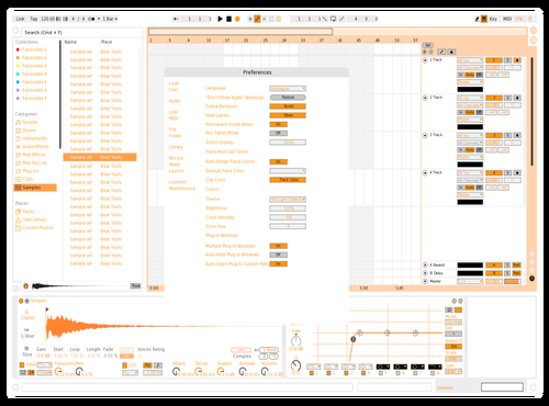 Orange Theme for Ableton 10 by Rui