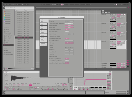 PINK REMIX YUYUY Theme for Ableton 10 by zhou