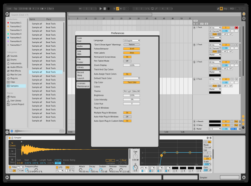 Light Oreo Theme for Ableton 10 by Peter Key