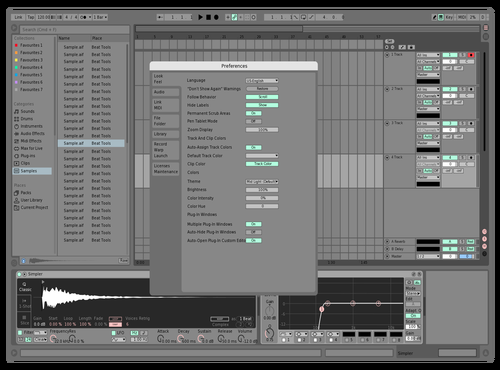 Mid Slight Theme for Ableton 10 by Mark