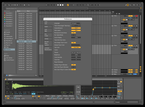 ZachTunes Color Palette Theme for Ableton 10 by Zach