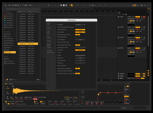New yellow Theme for Ableton 10 by n4skinftw