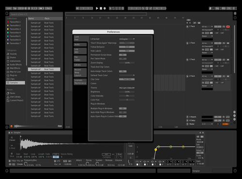 Grey sam Theme for Ableton 10 by Sam Howell