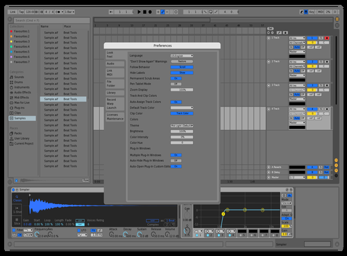 Simple Grey+Blue Theme for Ableton 10 by Kamu