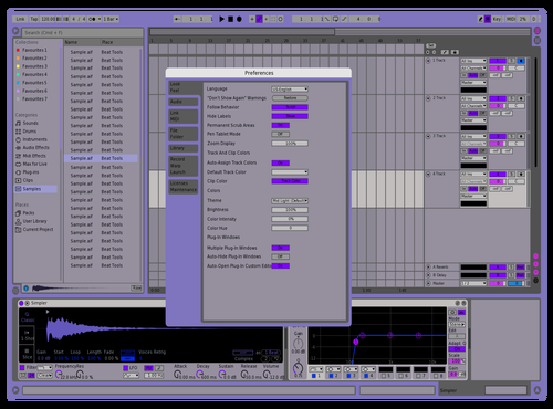 PURPGOAT Theme for Ableton 10 by Alex