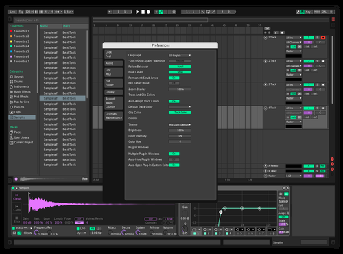 Turquoise Theme for Ableton 10 by Darelt