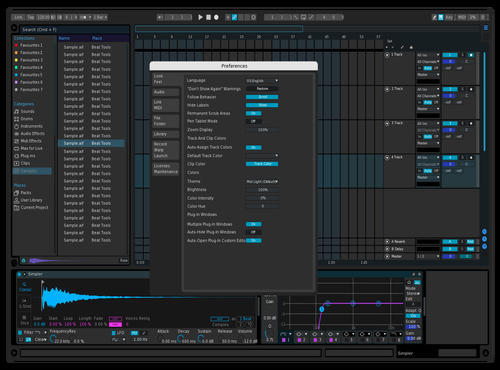 CosmicNight Theme for Ableton 10 by cosmicelegy