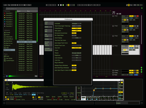 BlACKNGREEN Theme for Ableton 10 by aaren