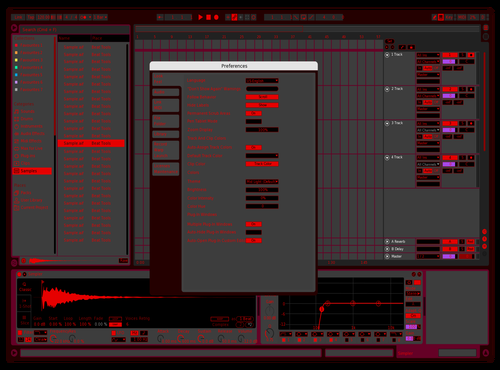 NightMode Theme for Ableton 10 by Brother Xah