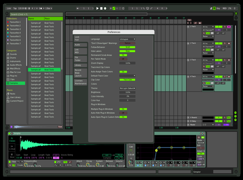 Green Pop Theme for Ableton 10 by Kaden C