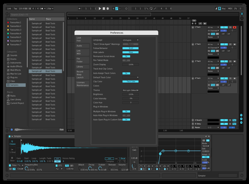 DarkCyan Theme for Ableton 10 by Goofer