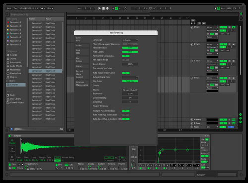 Spotify Green Dark Theme for Ableton 10 by Otto