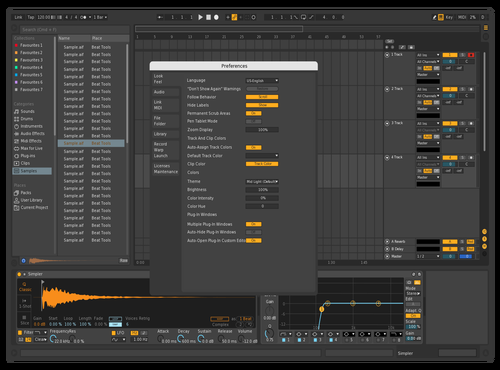 Dark COLLEN Theme for Ableton 10 by Collen