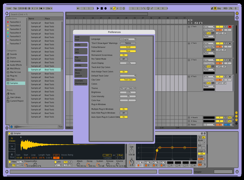 Purple9 Theme for Ableton 10 by mash