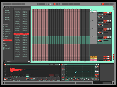Pink, red & blue Theme for Ableton 10 by emmarosa@hotmail.co.uk